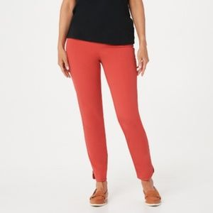 Isaac Mizrahi Live! 24/7 Stretch Solid Ankle Pants